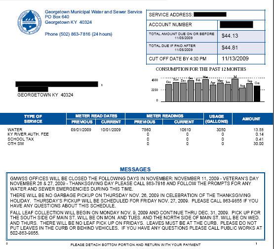 GMWSS Portal Tour - Georgetown Municipal Water and Sewer Service